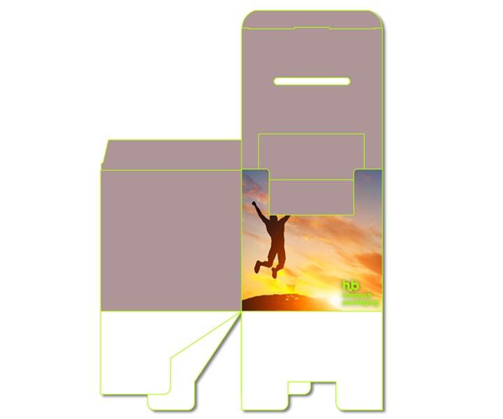 Ansicht Versand Losbox mit Dispenser