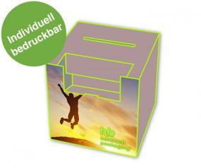 Losbox ohne Topschild, mit Dispenser Querformat