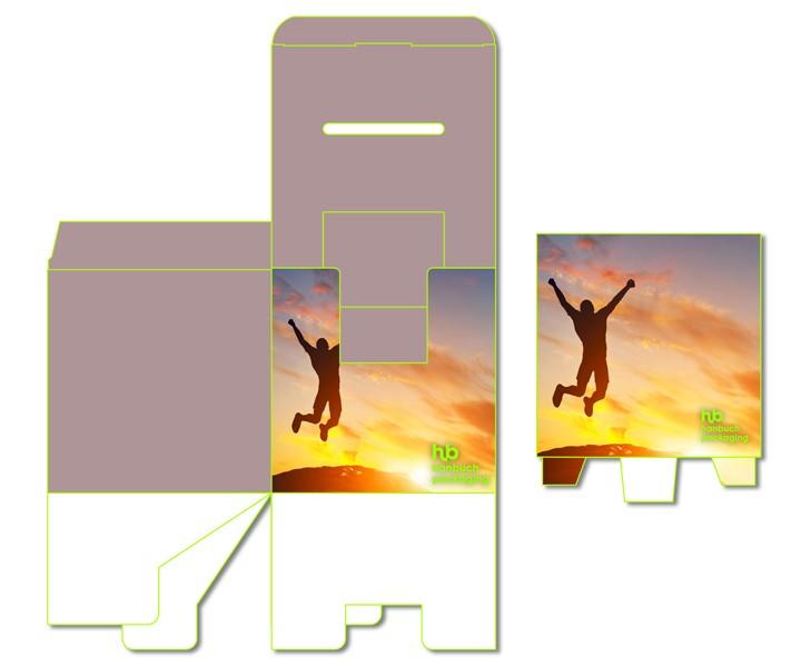 Ansicht Versand Losbox mit Topschild + Dispenser