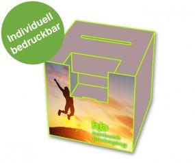 Losbox ohne Topschild, mit Dispenser Hochformat
