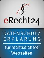 Siegel Datenschutzerklärung für rechtssichere Webseiten